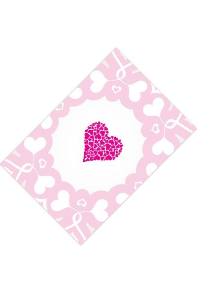 Cici Halı Pembe Fuşya Kalpli Kız Çocuk Odası Halısı-133x190