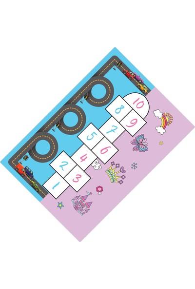Cici Halı Sek Sek Çift Taraflı Tasarım Çocuk Halısı-160x230