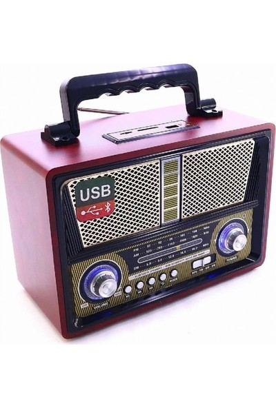 Fuma Nostalji Bluetooth Usb Hafıza Kartı Fm Radyo Kemai 1802Bt