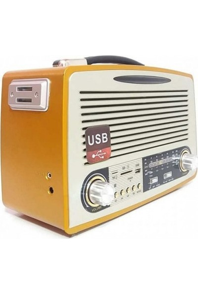 Gringo Md1700Bt Bluetooth Usb Sd Fm Nostaljik Görünümlü Radyo