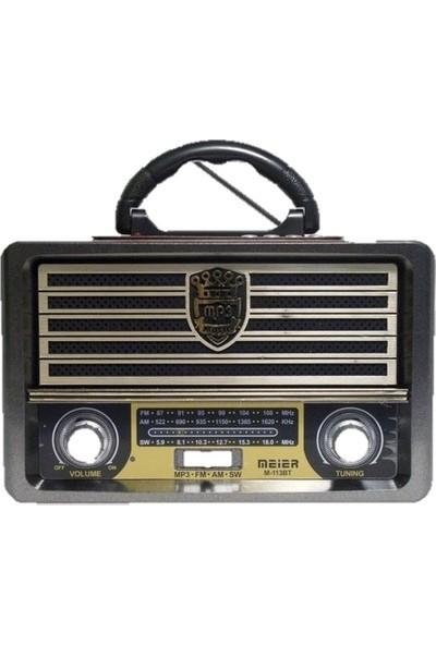 Gringo M113Bt Usb,Sd,Mp3,Bluetooth Şarjlı Nostaljik Radyo