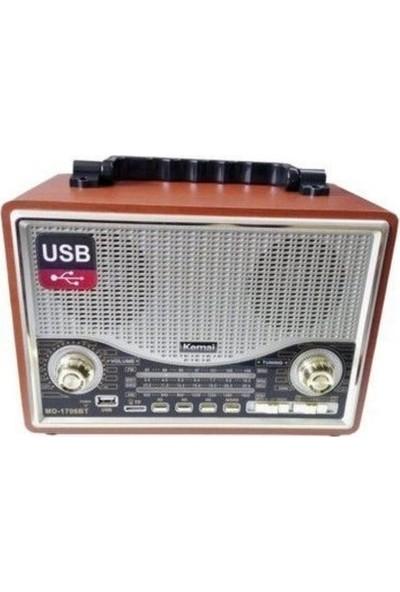 Gringo Md1706Bt Bluetooth Usb Sd Fm Nostaljik Görünümlü Radyo