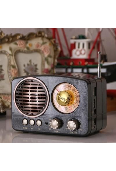 Kamal Km 161 Nostaljik Dekoratif Bluetooth Usb Sd Fm Am Sw 3 Band Radyo