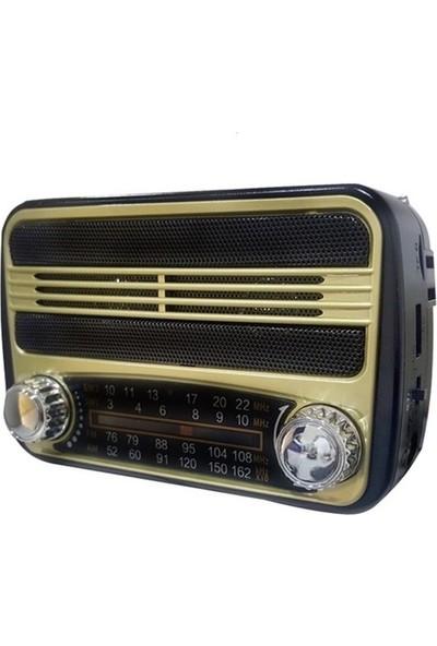 Kamal Nostaljik Görünümlü USB SD FM Destekli MP3 Çalar Radyo Km 183