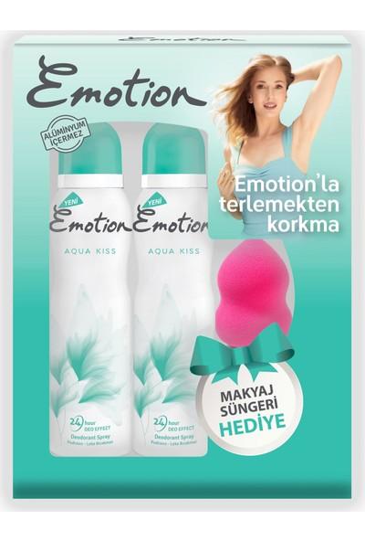 Emotion Aqua Kiss 2'li Kadın Deodorant 150 ml + Makyaj Süngeri