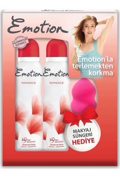 Emotion Romance 2'li Kadın Deodorant 150 ml + Makyaj Süngeri