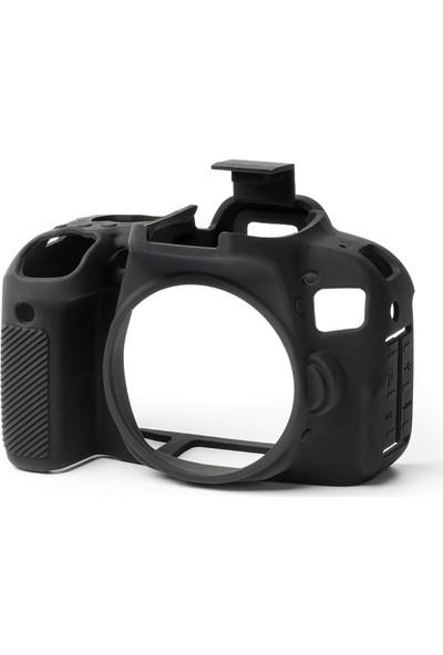 Easycover Canon 800D Silikon Kılıf + Ekran Koruyucu ( Siyah )