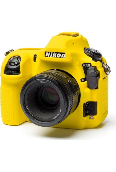 Easycover Nikon D850 Silikon Kılıf ECND850Y (Sarı)