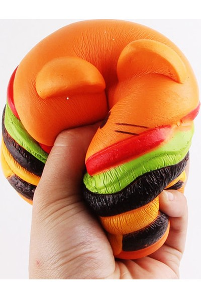 Squishmeez Squishy Turuncu Haburger Jumbo Sukuşi