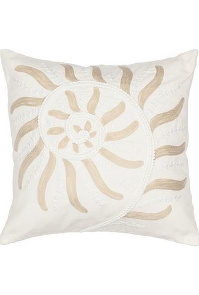 Chakra Moss Dekoratif Yastık Kılıfı 45 X 45- Ekru Kum