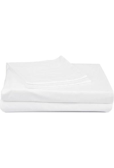 Chakra Uni Lastikli Çarşaf Set Sng- Beyaz