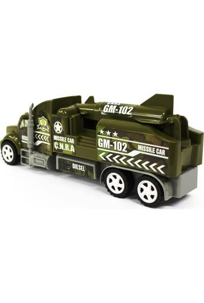 Nizam Oyuncak Tır Seti Askeri Araç Sürtmeli Tır Seti