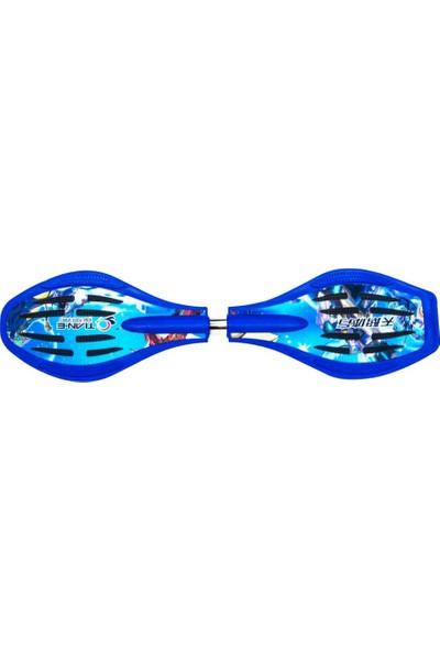 Cosfer CSF-ITK-M İki Tekerlekli Çantalı Kaykay - Mavi