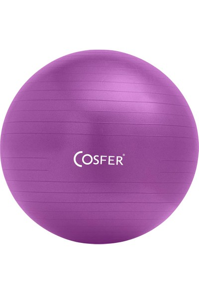 Cosfer CSF-20CMMR Pilates Topu 20 cm. Mor