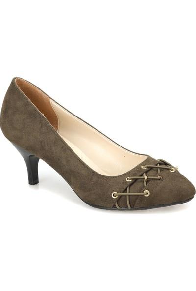 Miss F Dw18041 Haki Kadın Gova Ayakkabı