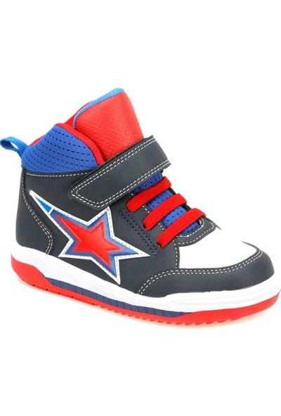 Yellow Kids Kırıza Lacivert Erkek Çocuk Sneaker Ayakkabı