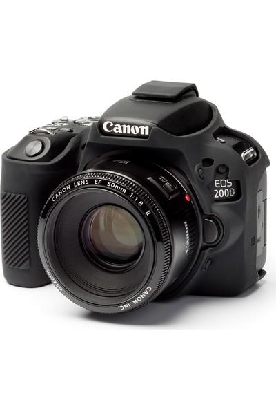Easycover Canon 200D/250D Silikon Kılıf ECC200DB (Siyah)
