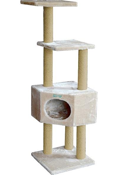 Turkuaz Pet Tr969 Corner Kedi Katlı Tırmalama Kedi Oyun Evi