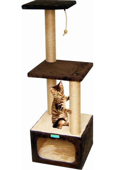 Turkuaz Pet Tr211 Draco Katlı Kedi Evi 35 x 35 x 112 cm