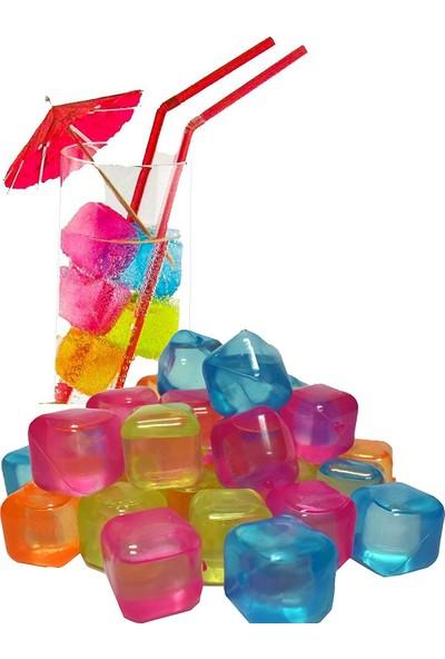 Binbirreyon Renkli Buz Küpleri 20'li Paket Buz Kalıbı RA231