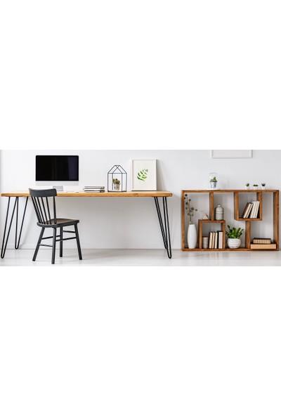 222 Concept Masif El Yapımı CPT4602-180 Ağaç Çalışma Masası 180x50 cm