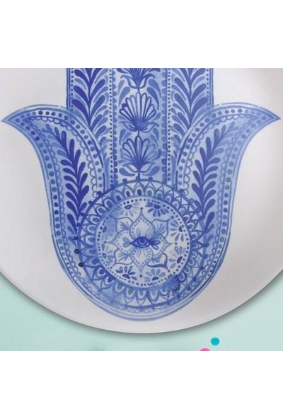 Keramika 1 Adet 25 Cm Fatma Ana Eli Mavi Kera Art-17790