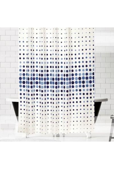 Evdy Banyo Perdesi 4961 Tek Kanat Mavi