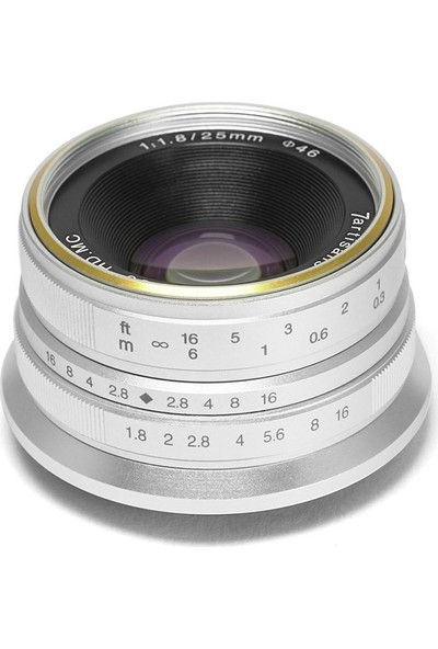 7artisans Objektif 7Artisans 25mm F1.8 Manual Focus Prime Fixed Lens