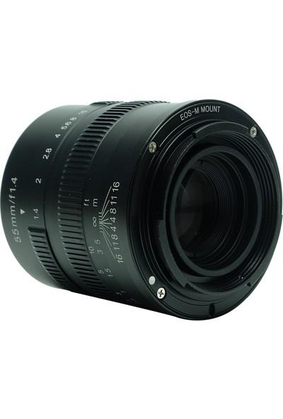 7artisans Sony Uyumlu 7artisans 55mm F1.4 Manual Fixed Lens Sony uyumlu