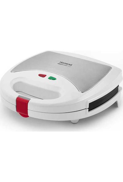 Homend 1309 ToastBuster 750 W Çıkarılabilir Plakalı Tost ve Waffle Makinesi