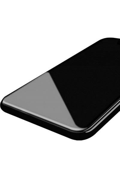 AntDesign 6D Eğimli Kenar Ön Panel iPhone 8 Cam Ekran Koruyucu Siyah