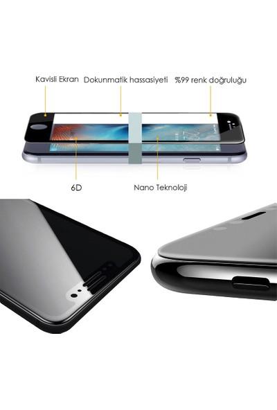 AntDesign 6D Eğimli Kenar Ön iPhone 8 Plus Cam Ekran Koruyucu Siyah