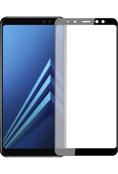 AntDesign 5D Tüm Yüzey Galaxy A8 2018 Cam Ekran Koruyucu Siyah