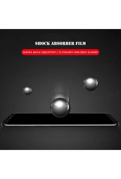 AntDesign 5D Tüm Yüzey Galaxy A8 2018 Plus Cam Ekran Koruyucu Siyah