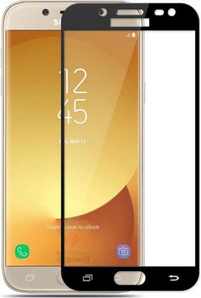 AntDesign 5D Tüm Yüzey Samsung Galaxy J3 Pro Cam Ekran Koruyucu Siyah