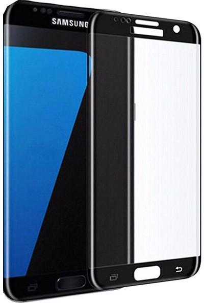 AntDesign 5D Tüm Yüzey Samsung Galaxy J7 Pro Cam Ekran Koruyucu Siyah