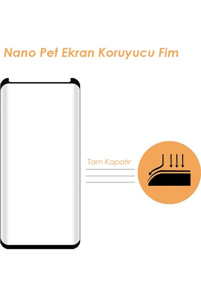 AntDesign Nano Pet Samsung Galaxy S9 Plus Siyah Ekran Koruyucu Film