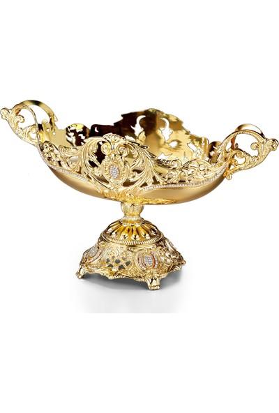 Alara Gümüş Gondol Altınlı Kristal Taşlı Büyük 1201MAKRS