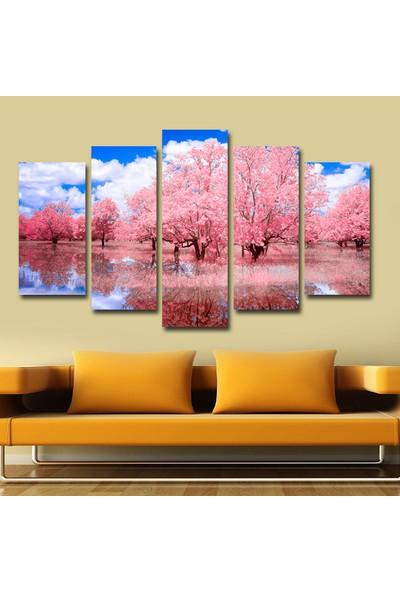 Agf Tablo Ağaç Ve Göl Manzaralı Dekoratif 5 Parça Mdf Tablo