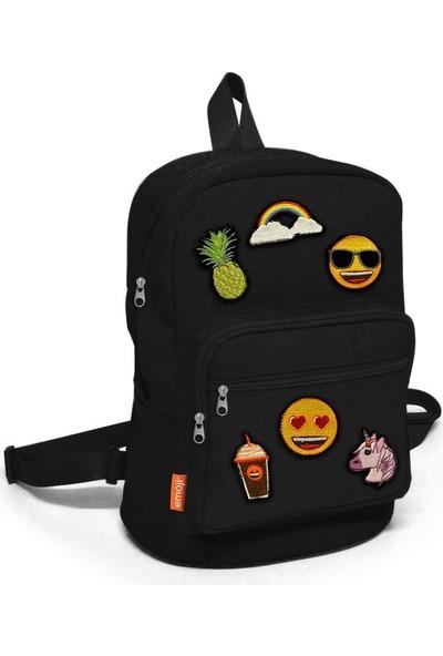 Yaygan 23070 Emoji Mini Sırt Çantası Siyah