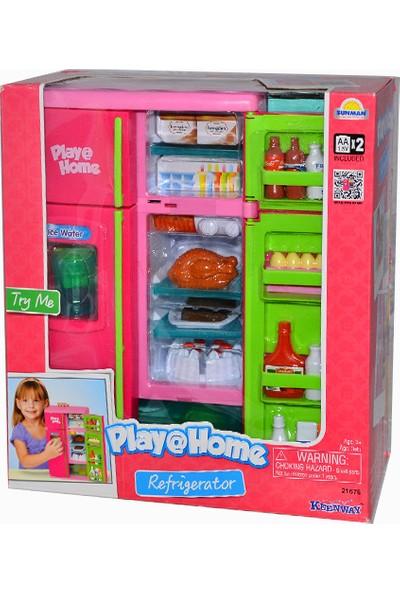 Keenway Play@Home Işıklı ve Sesli Buzdolabı Oyuncak Mutfak Seti