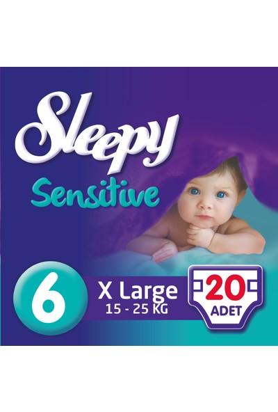 Sleepy Sensitive Bebek Bezi 6 Beden XL Jumbo Paket 20 Adet