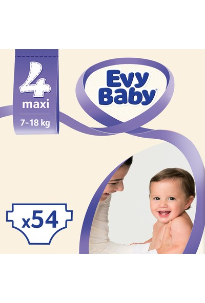 Evy Baby Bebek Bezi 4 Beden Maxi Dev Paket 54 Adet