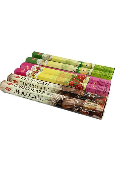 Hem Tütsü Üç Farklı Koku 120 Adet Tütsü Elma Çilek Çikolata