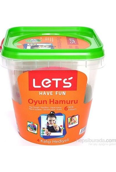 Lets Oyun Hamuru 8 Renk Plastik Kovalı L8700
