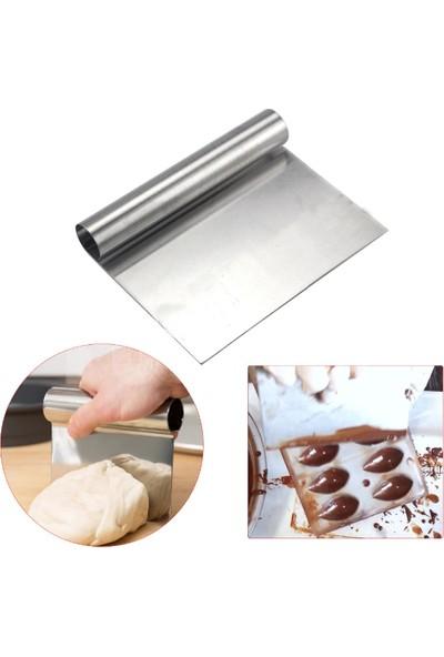 Nar Kalıp Spatula Hamur Kazıyıcı Ve Pasta Sıvama Aparatı 18cm