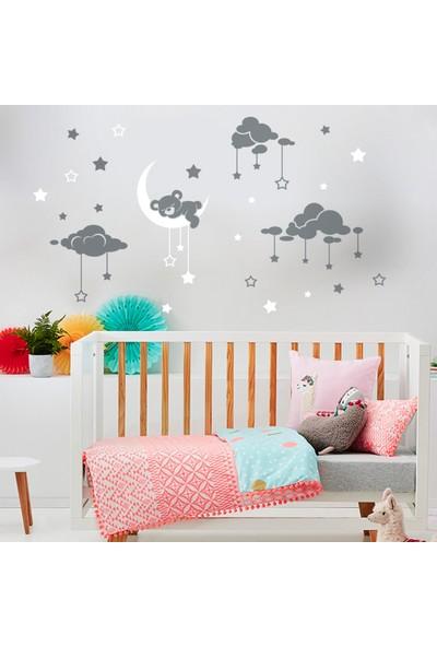 DekorLoft Uyuyan Ayıcık Çocuk Odası Duvar Sticker CS-6210G