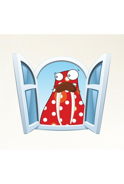 DekorLoft Çocuk Odası Pencere Sticker PNC-816