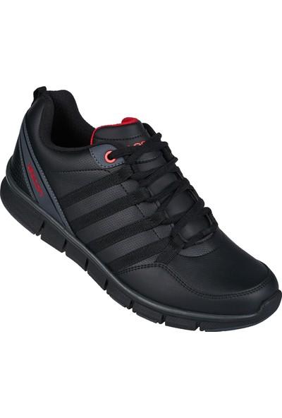 Lescon L-6030 Siyah Erkek Flex Spor Ayakkabı
