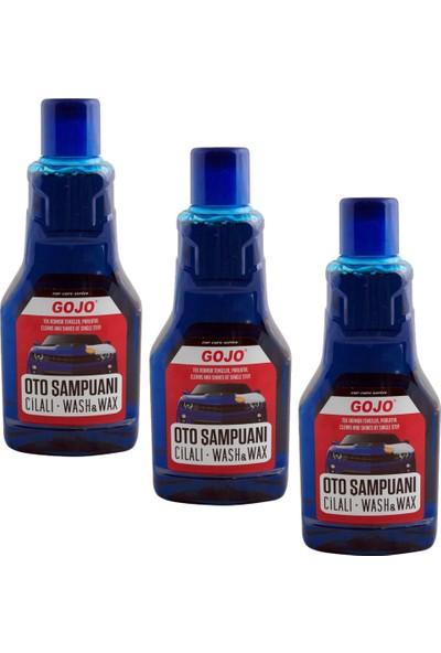 Gojo Cilalı Oto Şampuanı 1 Litre 3'lü Paket + Sünger